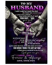 Husband - Cross - Hand In Hand - I Wish I Could  16x24 Poster front