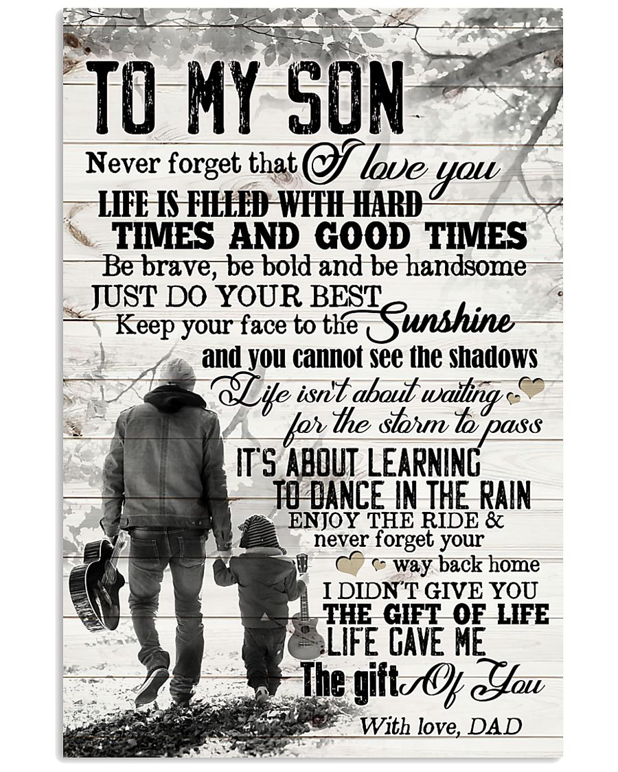 To My Son - Hands - Life Is Filled With Hard  16x24 Poster