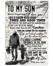 To My Son - Hands - Life Is Filled With Hard  16x24 Poster front