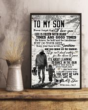To My Son - Hands - Life Is Filled With Hard  16x24 Poster lifestyle-poster-3