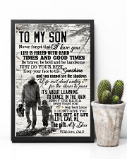 To My Son - Hands - Life Is Filled With Hard  16x24 Poster lifestyle-poster-8