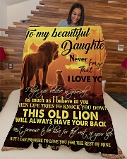 """DAD TO DAUGHTER Large Fleece Blanket - 60"""" x 80"""" aos-coral-fleece-blanket-60x80-lifestyle-front-04"""