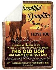 """DAD TO DAUGHTER Large Sherpa Fleece Blanket - 60"""" x 80"""" thumbnail"""