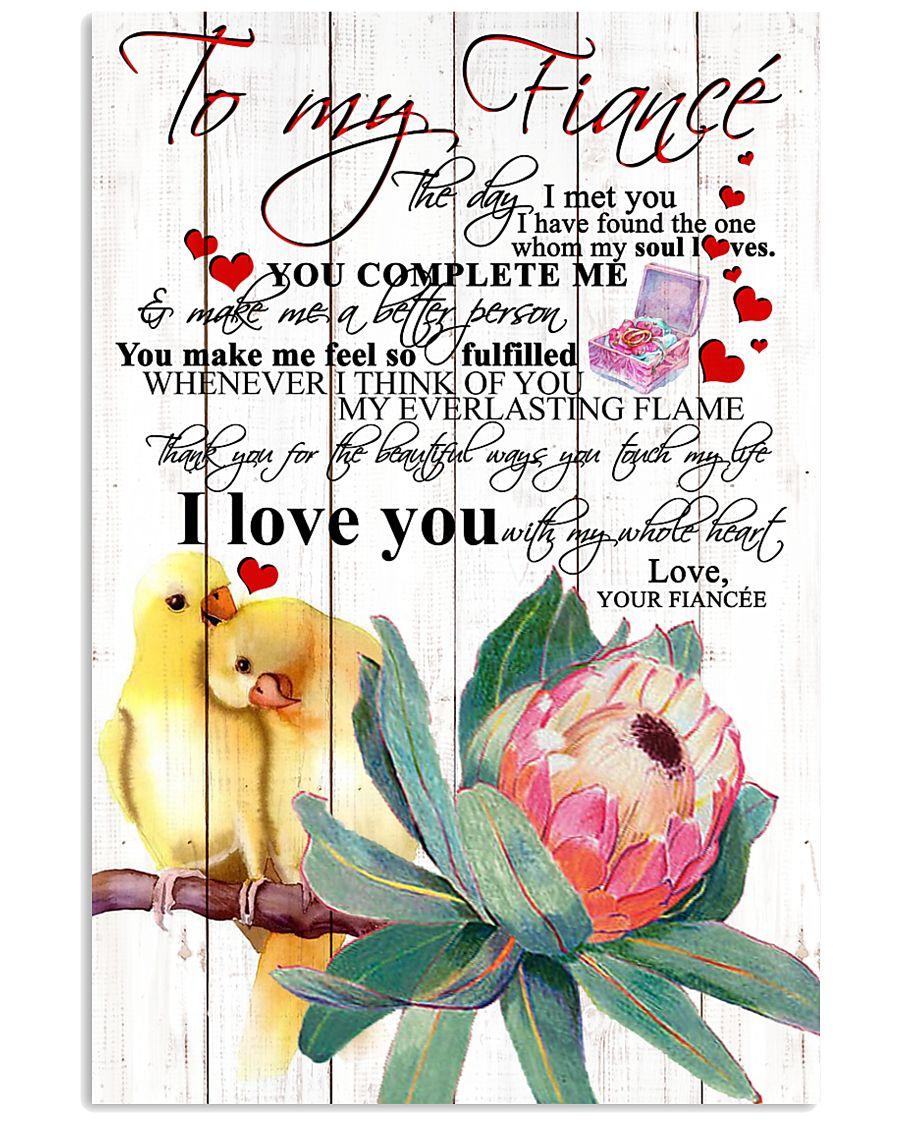 TO MY FIANCEE 16x24 Poster