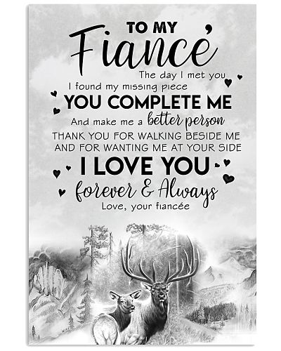 POSTER - TO MY FIANCE' - DEER - THE DAY I MET YOU