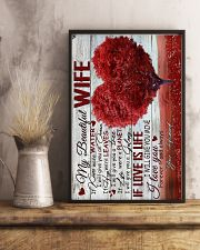 To Wife - Heart - If Kisses Were Water - Poster 16x24 Poster lifestyle-poster-3