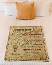 """Grandma to Granddaughter - Laugh Love Live  Small Fleece Blanket - 30"""" x 40"""" aos-coral-fleece-blanket-30x40-lifestyle-front-04"""
