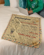 """Grandma to Granddaughter - Laugh Love Live  Small Fleece Blanket - 30"""" x 40"""" aos-coral-fleece-blanket-30x40-lifestyle-front-07"""