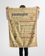"""Grandma to Granddaughter - Laugh Love Live  Small Fleece Blanket - 30"""" x 40"""" aos-coral-fleece-blanket-30x40-lifestyle-front-14"""