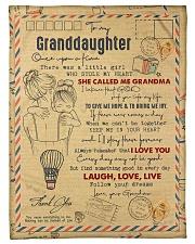 "Grandma to Granddaughter - Laugh Love Live  Small Fleece Blanket - 30"" x 40"" front"