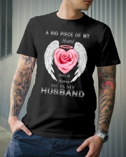 ANGEL HUSBAND - ROSE - A BIG PIECE OF MY HEART Classic T-Shirt lifestyle-mens-crewneck-front-6