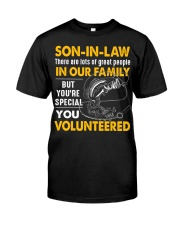 SON-IN-LAW - FISHING - VINTAGE - YOU VOLUNTEERED Classic T-Shirt front
