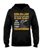 SON-IN-LAW - FISHING - VINTAGE - YOU VOLUNTEERED Hooded Sweatshirt thumbnail