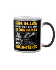 SON-IN-LAW - FISHING - VINTAGE - YOU VOLUNTEERED Color Changing Mug thumbnail