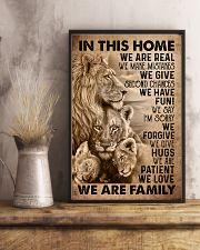 IN THIS HOME 16x24 Poster lifestyle-poster-3