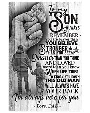 To My Son - Always Remember You Are Braver 16x24 Poster front
