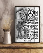 To My Son - Always Remember You Are Braver 16x24 Poster lifestyle-poster-3