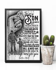 To My Son - Always Remember You Are Braver 16x24 Poster lifestyle-poster-8