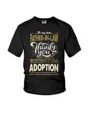 T-SHIRT - TO MY FATHER-IN-LAW - THANK YOU Youth T-Shirt thumbnail