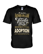 T-SHIRT - TO MY FATHER-IN-LAW - THANK YOU V-Neck T-Shirt thumbnail