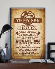 Dad To Son - Never Forget That I Love You 16x24 Poster lifestyle-poster-2