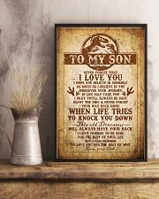 Dad To Son - Never Forget That I Love You 16x24 Poster lifestyle-poster-3