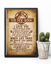 Dad To Son - Never Forget That I Love You 16x24 Poster lifestyle-poster-8