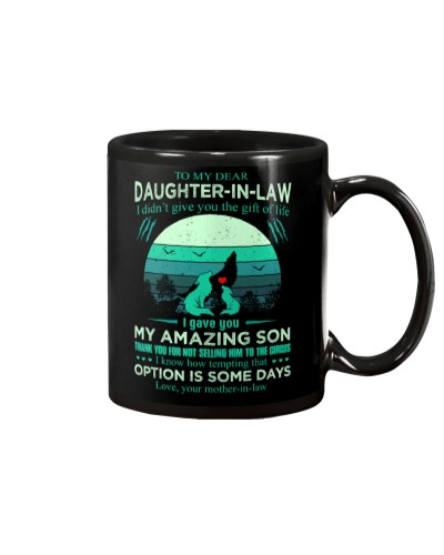 MUG - TO MY DAUGHTER-IN-LAW - WOLF - CIRCUS