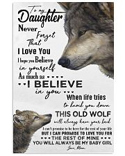 TO MY DAUGHTER - WOLF - NEVER FORGET 16x24 Poster front
