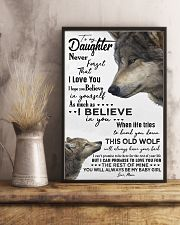 TO MY DAUGHTER - WOLF - NEVER FORGET 16x24 Poster lifestyle-poster-3