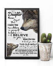 TO MY DAUGHTER - WOLF - NEVER FORGET 16x24 Poster lifestyle-poster-8