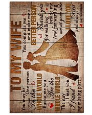 To My Wife - Thank You For Walking Beside Me  16x24 Poster front