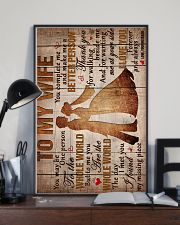 To My Wife - Thank You For Walking Beside Me  16x24 Poster lifestyle-poster-2