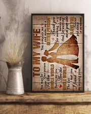 To My Wife - Thank You For Walking Beside Me  16x24 Poster lifestyle-poster-3