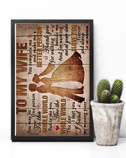 To My Wife - Thank You For Walking Beside Me  16x24 Poster lifestyle-poster-8