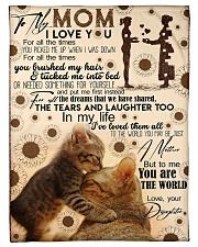 FLEECE BLANKET - TO MY MOM - CAT - IN MY LIFE Fleece Blanket tile
