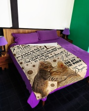 """FLEECE BLANKET - TO MY MOM - CAT - IN MY LIFE Large Fleece Blanket - 60"""" x 80"""" aos-coral-fleece-blanket-60x80-lifestyle-front-01"""