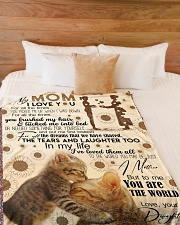 """FLEECE BLANKET - TO MY MOM - CAT - IN MY LIFE Large Fleece Blanket - 60"""" x 80"""" aos-coral-fleece-blanket-60x80-lifestyle-front-02"""