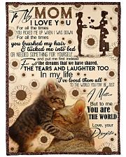 """FLEECE BLANKET - TO MY MOM - CAT - IN MY LIFE Large Fleece Blanket - 60"""" x 80"""" front"""