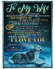 "TO MY WIFE Large Fleece Blanket - 60"" x 80"" front"