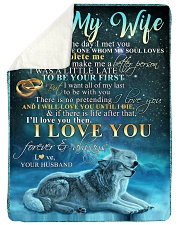 "TO MY WIFE Large Sherpa Fleece Blanket - 60"" x 80"" thumbnail"