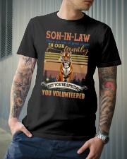 Son-in-law - Tiger - You Volunteered - T-Shirt  Classic T-Shirt lifestyle-mens-crewneck-front-6