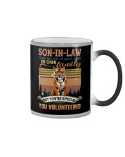 Son-in-law - Tiger - You Volunteered - T-Shirt  Color Changing Mug thumbnail