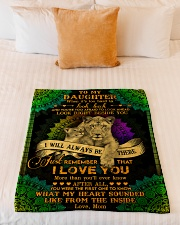 """To My Daughter - Lion - When It's Too Hard  Small Fleece Blanket - 30"""" x 40"""" aos-coral-fleece-blanket-30x40-lifestyle-front-04"""