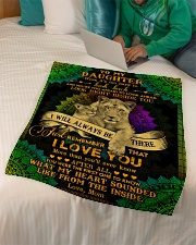 """To My Daughter - Lion - When It's Too Hard  Small Fleece Blanket - 30"""" x 40"""" aos-coral-fleece-blanket-30x40-lifestyle-front-07"""