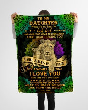 """To My Daughter - Lion - When It's Too Hard  Small Fleece Blanket - 30"""" x 40"""" aos-coral-fleece-blanket-30x40-lifestyle-front-14"""