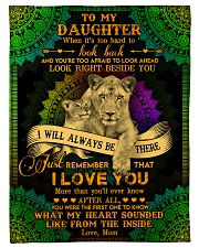 """To My Daughter - Lion - When It's Too Hard  Small Fleece Blanket - 30"""" x 40"""" front"""