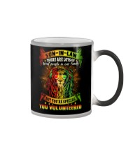 Son-in-law - Lion - You Volunteered - T-Shirt Color Changing Mug thumbnail