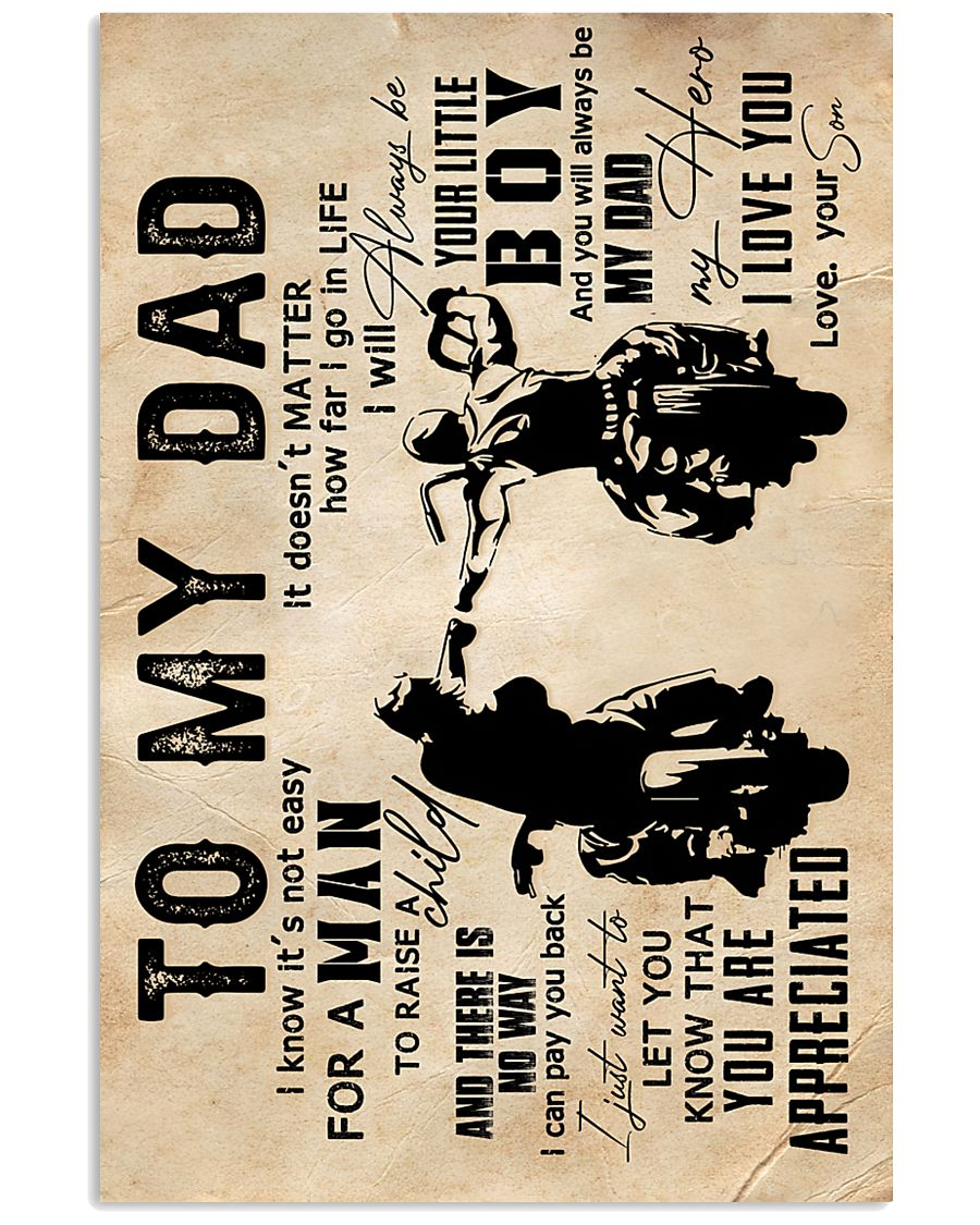 To My Dad - Motorcylcle - Poster 16x24 Poster