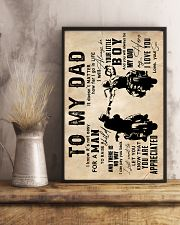 To My Dad - Motorcylcle - Poster 16x24 Poster lifestyle-poster-3